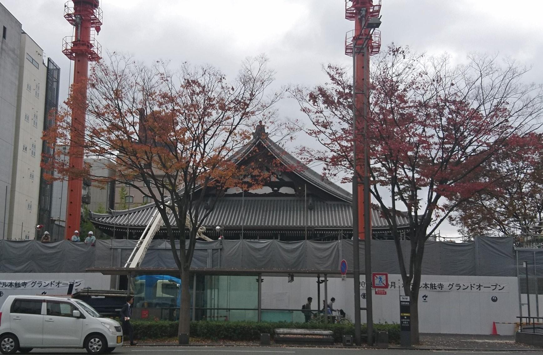御池通りからの本能寺